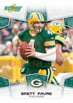 2008 Score #106 Brett Favre - QB - Green Bay Packers (Football Cards) by Score. $1.22. 100,000s of Sports Cards Listed Here. Most Cards Shipped in Soft Sleeve and/or Top Load (See Shipping). Listing is for (1) One Single NFL Football Trading Card. Any Questions or Better Image Needed - Please Ask the Seller. Card Condidtion is Near Mint (NM) or Better, unless otherwise stated. 2008 Score #106 Brett Favre - QB - Green Bay Packers (Football Cards)