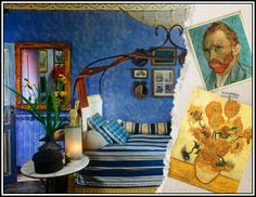 Vincent Van Gogh inspired furniture set. There's some really cool pieces in this.