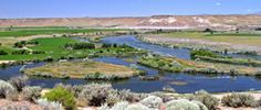 Three Island Crossing, Historical Oregon Trail Site on the Snake River at Glenns Ferry, Idaho