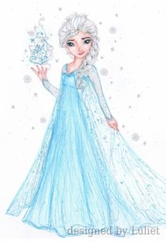 Elsa from the movie Frozen