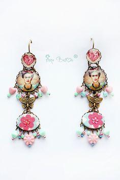 Frida Kahlo earrings by Ana Basoc - Dreamer house