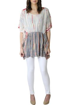 Our ultra soft River + Sky Tie-dye Tunic will add some whimsy and comfort to your everyday look. Beautifully detailed pattern. Looks great with white skinny jeans. Add your favorite pair of heels and bangles to complete this ultra chic look.    Silver Tie-Dye Tunic  by River + Sky . Clothing - Tops - Tunics Texas