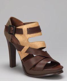Look at this #zulilyfind! Calvin Klein Jeans Brown & Tan Calf Hair Tamia Platform by Calvin Klein Jeans #zulilyfinds