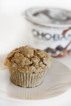 Chobani Muffin For One:  4 Tbsp Chobani Vanilla Chocolate Chunk Greek Yogurt  3 Tbsp whole wheat flour  1 Tbsp liquid egg whites  1 Tbsp chia seeds  1/2 tsp pure vanilla extract  1/4 tsp or 1 packet of stevia  1/4 tsp baking powder