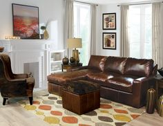 England Furniture 2T00AL in Galveston Peat fabric, England Furniture 4544HN and 2F00HLN Galveston Peat and Panda Brindle fabrics