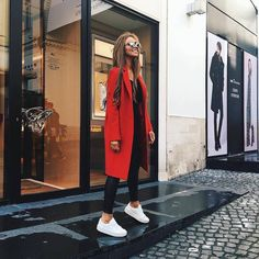 Red, black and white! #GoBold #BoldlyGo #Style workinglook.com