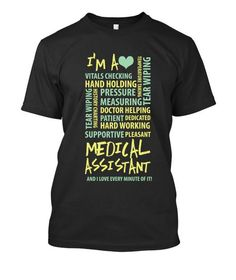 Poem Medical Assistant - 23.00. Premium quality tees, tanks and hoodies from BadBananas. Flat rate shipping worldwide.