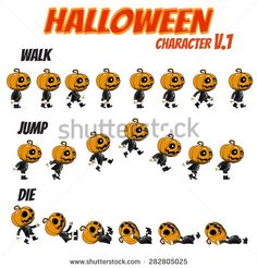 Game Kits Adventure Design Halloween day Part 1 (Character Sprite 1 Jack)