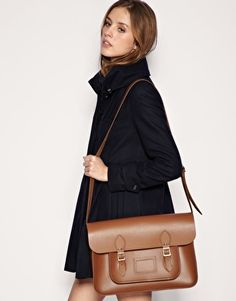 cambridge satchel in classic brown