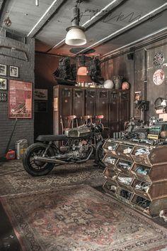 MOTORBIKES ON THE LIVING ROOM OR LIKE LIVING ROOM ON THE GARAGE? | PAULINA ARCKLIN | Photographer + Photo Stylist