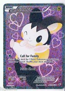 Pokemon Card Legendary Treasures Rare Holo FULL ART Emolga RC23/RC25