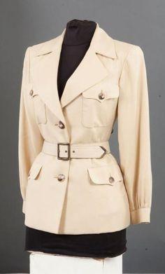 Yves SAINT LAURENT haute couture 1962-2002 n°77566 Veste saharienne en  Saharienne Femme bb94e6b650b
