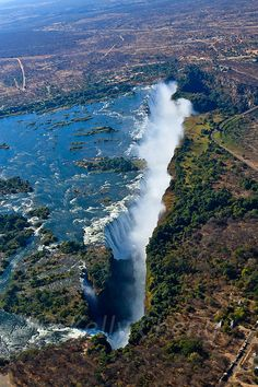 Victoria Falls Zimbabwe... Did a report on this place in junior high and have…