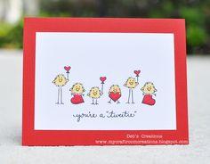 DeNami Red Valentine Chickies card by Deb