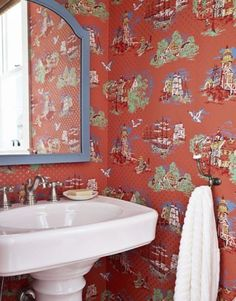 Home : Eleven Pretty Ways With Vintage Wallpaper