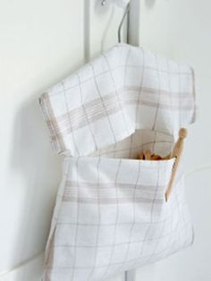 peg bag made from a teatowel