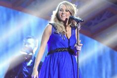 Carrie Underwood in a gorgeous blue gown, performing a fabulous medley of hits featured on her recently released Greatest Hits album at the inaugural American Country Countdown Awards! 12/15/2014