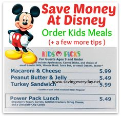 Save Money At Disney With Kids Meals!, http://www.savingeveryday.net/?p=96211