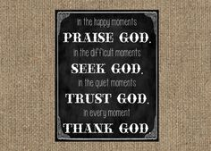 Chalkboard Moments with God Quote Print - SSDdesign