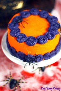 Halloween-themed Eggless Vanilla Cake