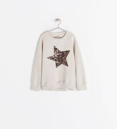 SEQUIN STAR SWEATSHIRT from Zara