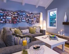 Breakers Beach House - contemporary - family room - - by Viscusi Elson Interior Design - Gina Viscusi Elson