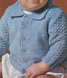 Vintage Knitting Pattern Instructions to Make a Babies Cardigan to fit 20  Chest