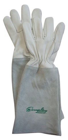 Rose Pruning Gloves for Men and Women. Thorn Proof Goatskin Leather Gardening Gloves with Long Cowhide Gauntlet to Protect Your Arms Until the Elbow. http://amzn.to/1XPEDhj