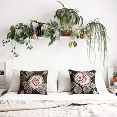 Accrocher une étagère au dessus du lit pour y faire pousser ses plantes préférées ! #mydecocrush #ideedeco #ideedecodujour #dailycrush #home #instahome #instadeco #interior #decorhome #decoboheme #bohodecor #jungalow #tropicool #bohochic #bohemianstyle #interieur123 #plant #greenlife #decojungle #urbanjungle #greeneries #bedroomdecor #decochambre #slowlife #liveauthentic : drlivinghome http://ift.tt/2eq5hhZ