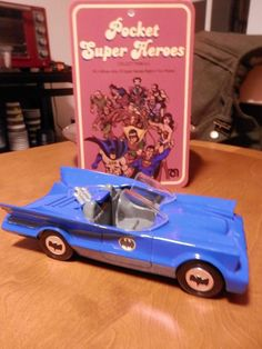 VINTAGE CUSTOM POCKET SUPER HEROES BATMOBILE 3 3/4 DC COMICS BATMAN COMIC ACTION #Mego