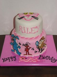 Pink Panther Birthday Cake By GRAMMASUE on CakeCentral.com