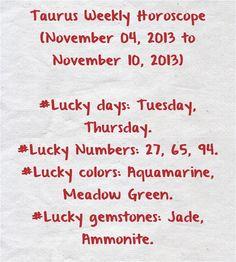 Weekly (November 2013 to November Zodiac Sun Signs, Gemini Zodiac, Taurus, Gemini Weekly Horoscope, Lucky Day, November 17, Ox
