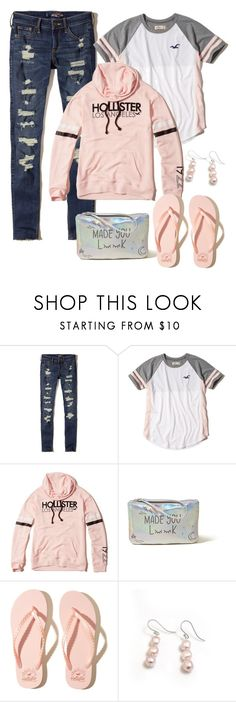 """""""Hollister"""" by naviaux ❤ liked on Polyvore featuring Hollister Co. and Hiho Silver"""