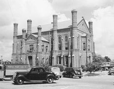 The 1885 Panola County, Texas Courthouse as it appeared in 1939.