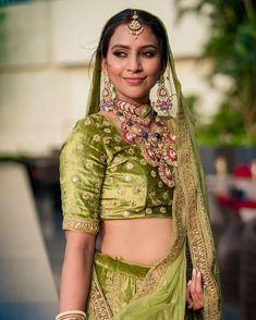 Green Lehenga, Designer Bridal Lehenga, Saree Navel, Lehenga Designs, Bridal Looks, Wedding Attire, Wedding Vendors, Special Occasion, Cool Designs