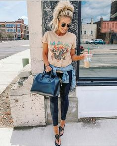 Women Jeans Outfit Online Clothing Sites Jogger Pants Outfit Loose Cotton Trousers Long Trousers Casual Formal Dresses Jeans And Heels Outfit – azalearlily Cute Casual Outfits, Chic Outfits, Fashion Outfits, Fashion Tips, Women's Fashion, Spring Summer Fashion, Spring Outfits, Autumn Fashion, Summer Leggings Outfits