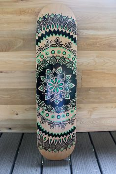 Hand Painted Mandala Skateboard by LavaBoards on Etsy, $45.00