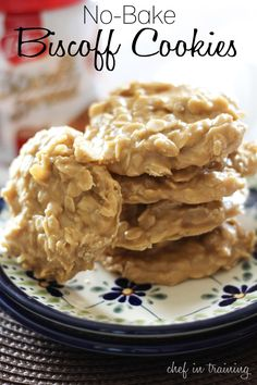 No-Bake Biscoff Cookies