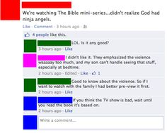 If you think the TV show is bad, wait until you read the book its based on. The bible...not meant for children...