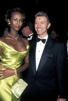 Iman and David Bowie (Photo by Ron Galella, Ltd./WireImage) via @AOL_Lifestyle Read more: http://www.aol.com/article/2016/01/11/david-bowie-and-iman-had-a-storybook-romance-for-25-years/21295537/?a_dgi=aolshare_pinterest#fullscreen