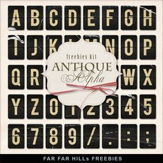 New Freebies Antique Alpha:Far Far Hill - Free database of digital illustrations and papers Free Digital Scrapbooking, Digital Scrapbook Paper, Digital Papers, Kit, Far Hills, Craft Free, Alphabet And Numbers, Smash Book, Free Paper
