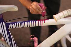Bildergebnis für bicycle with pattern paint job