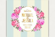 Wedding invitation card. by Romantic Vintage Flowers on Creative Market