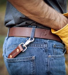 Stitched Leather Key Lanyard by REDTAIL Hard Goods, USA on Scoutmob
