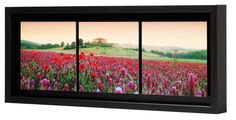 Tryptique caisse américaine noire Windows, Wall, Picture Frame, Frames, Painted Canvas, Walls, Ramen, Window