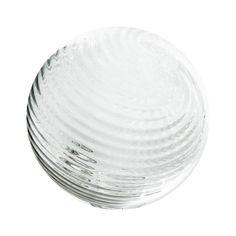 """Sphere - 6"""" Clear Twirled"""