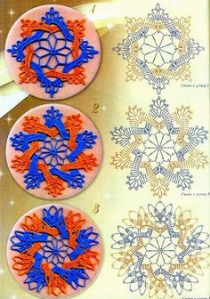 Two-color circular motifs