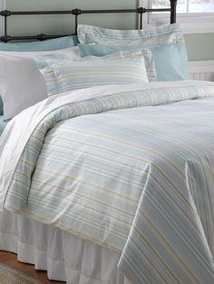 Sand Dollar Comforter Cover, Stripe