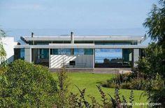 Moderna casa en la costa en Nueva Zelanda