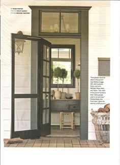 :: Havens South Designs :: transom doors are so inviting.